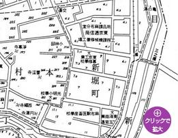 「東京市麻布区地籍図」昭和8年(1933年)